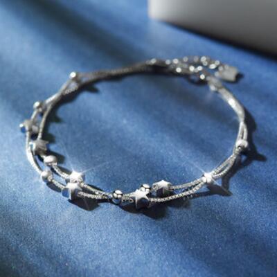 送女朋友的礼物:十二星座星星手链刻字