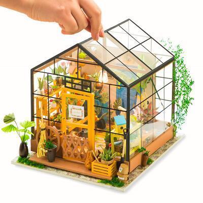 女友礼物:DIY小屋木制拼装玩具