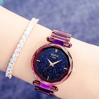 时尚潮流水晶女士手表