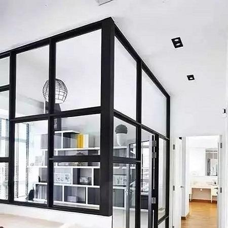 成都一半墙体一半玻璃隔断案例