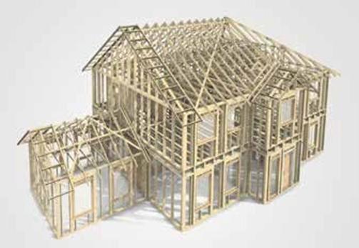 防腐木屋屋顶示意图