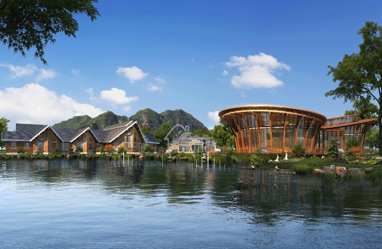 南康家居防腐木木屋项目大洋洲平面