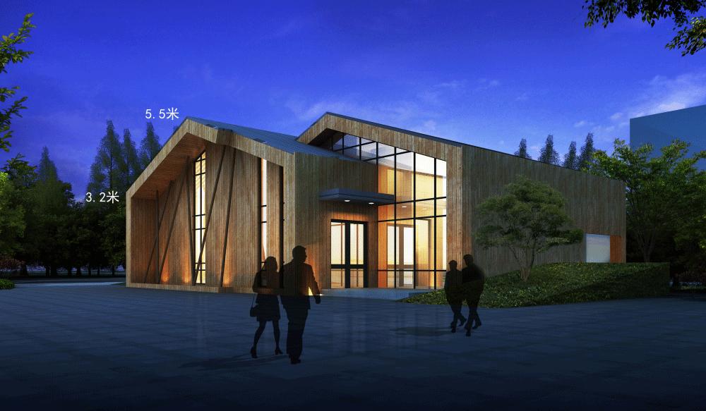 防腐木别墅项目图片