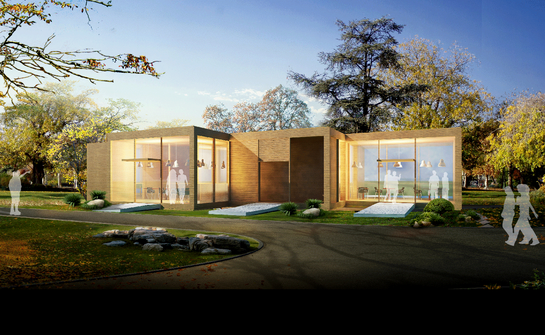 防腐木房子项目图片