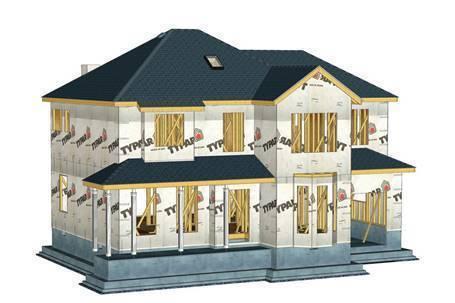 定制木屋别墅厂家木屋外墙呼吸纸安装