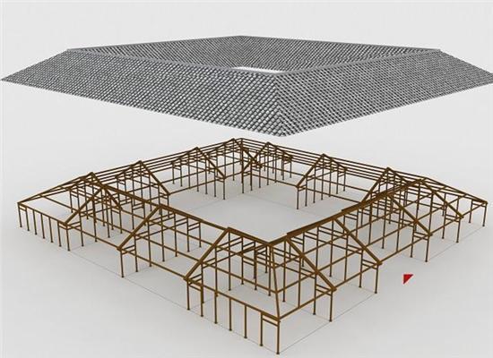 木屋别墅生产厂家穿斗式古建木结构