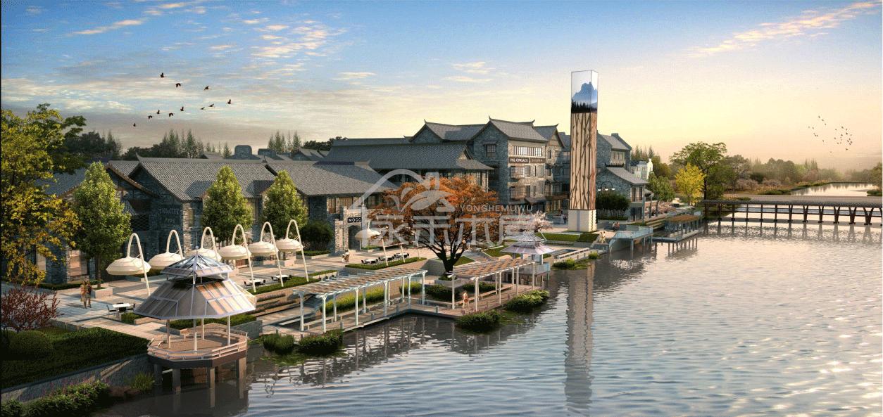 木屋批发案例沿河界面设计图