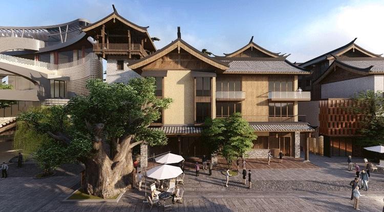 中国木屋效果图