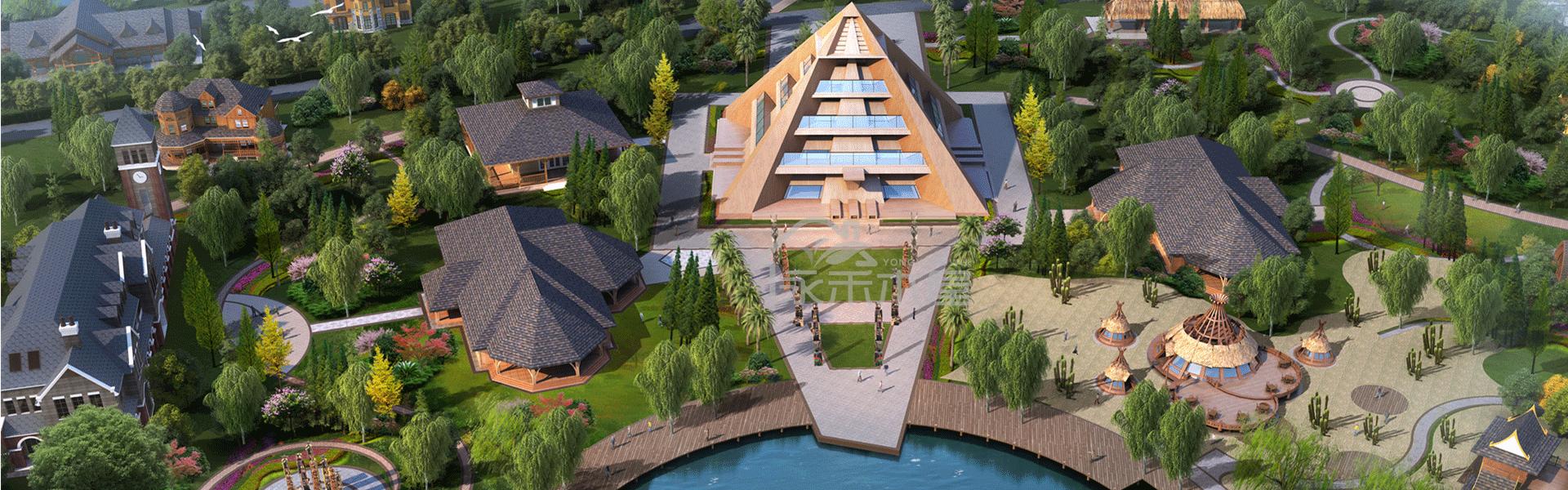 江西木屋项目非洲区木屋群平面图