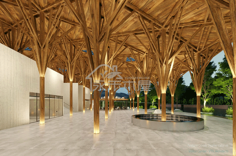 木别墅生产厂家丽江游客服务中心木屋展厅图2