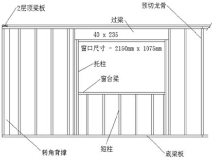 木结构建筑墙体安装示意图