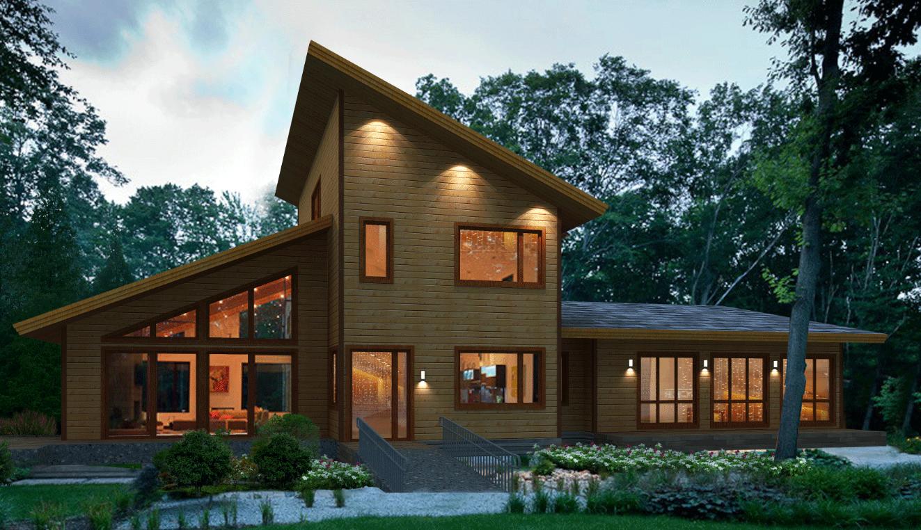 木结构施工案例设计图