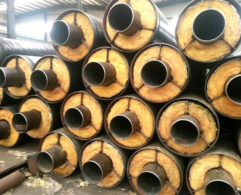 蒸汽管道用钢套钢岩棉保温钢管