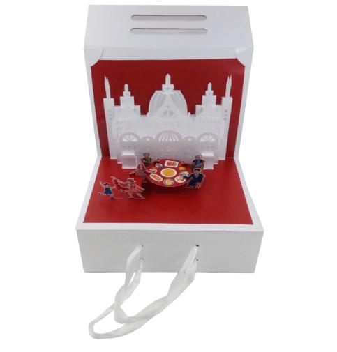 立体图像高端礼品礼盒立体结构开发
