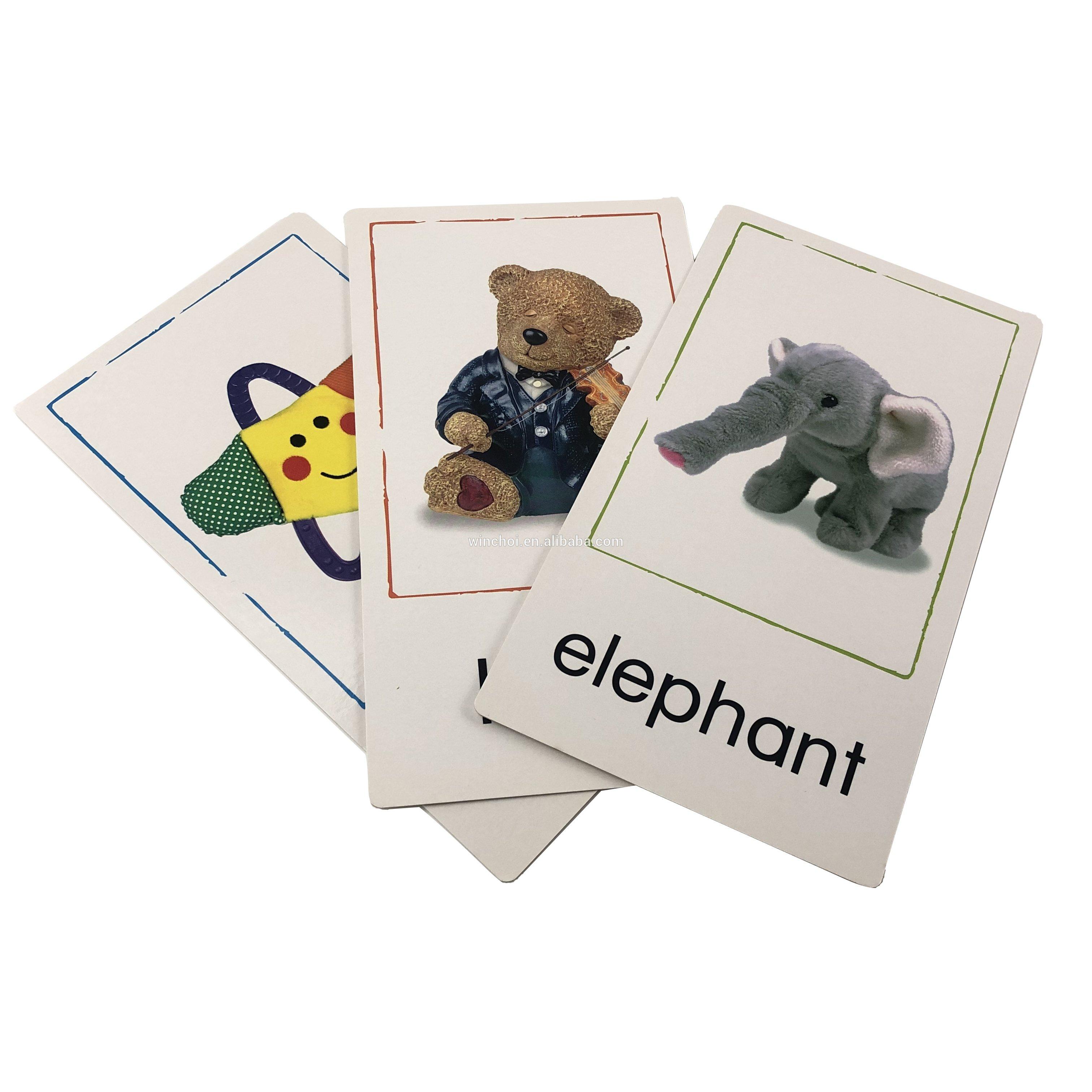 英语单词学习卡扑克牌四色胶印异形卡片