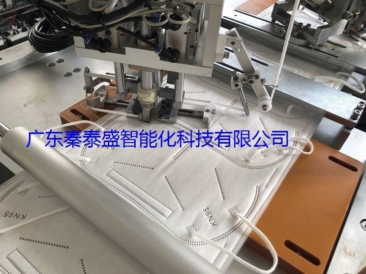 秦泰盛KN95全自动口罩耳带机工序介绍