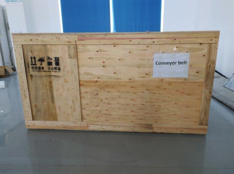 全自动鱼型口罩机订木箱待发货韩国