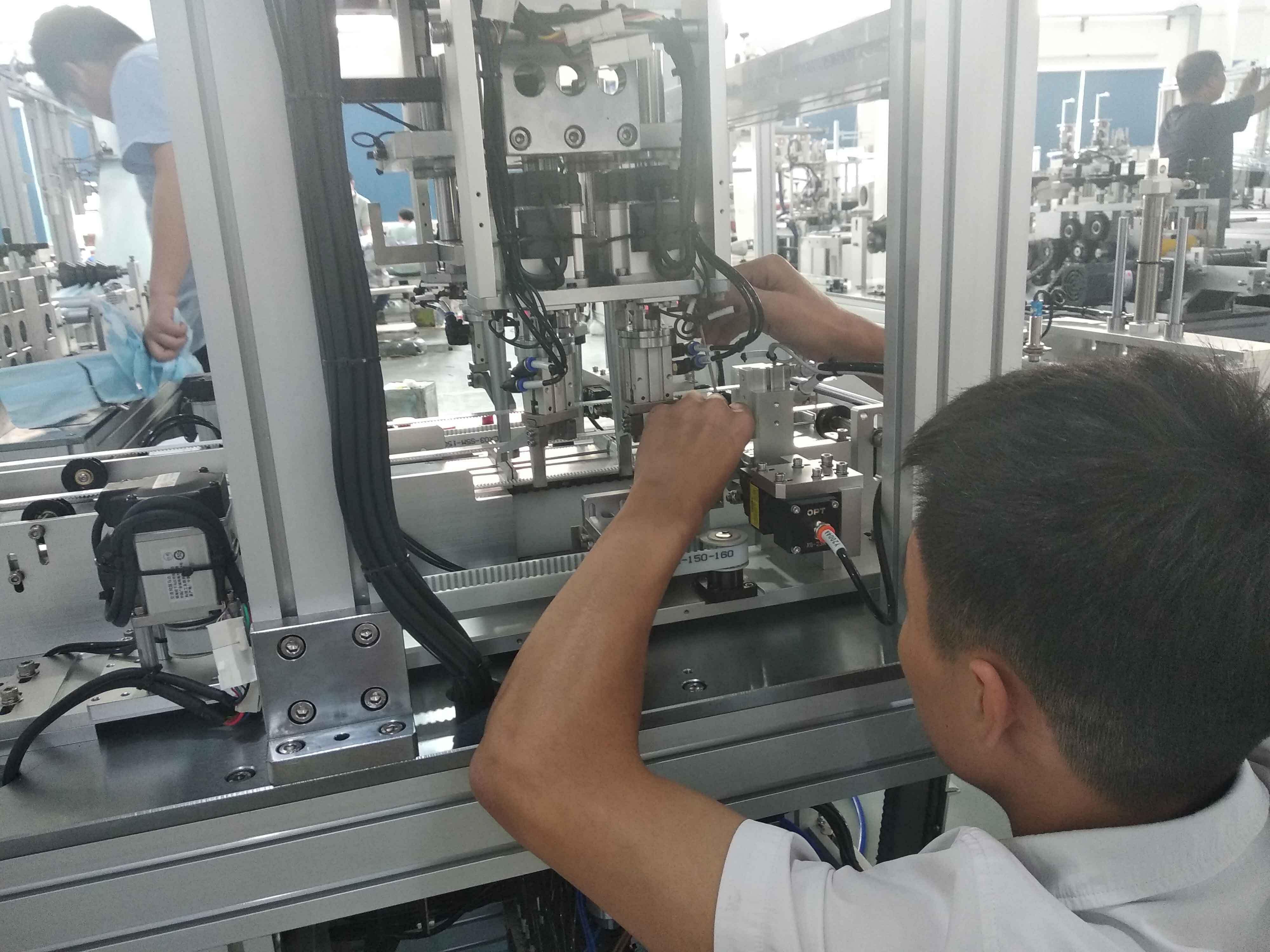 让全自动n95口罩机生产线减少缺陷的几个方法
