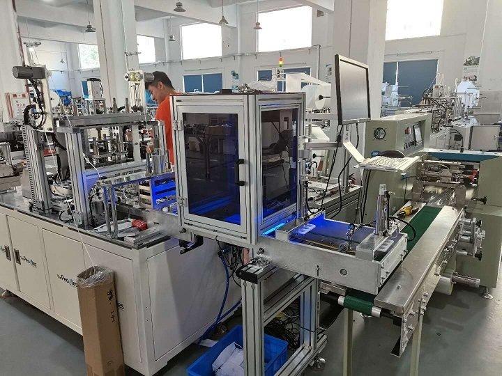 KF94口罩机+CCD智能检测+3边封包装机