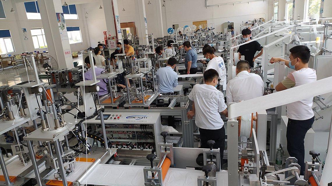 KN95口罩机生产车间环境