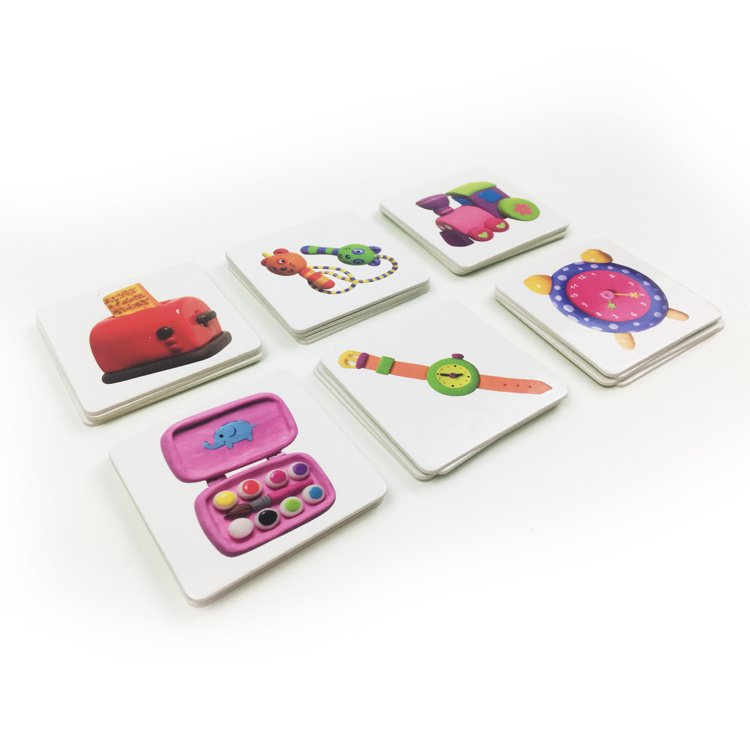 Custom full color board games card games for children early learning box with lid & bottom board gam