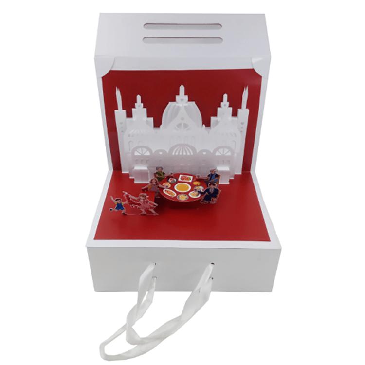 Eco friendly new product packaging custom boxes cake box packaging gift packaging box with ribbon ha