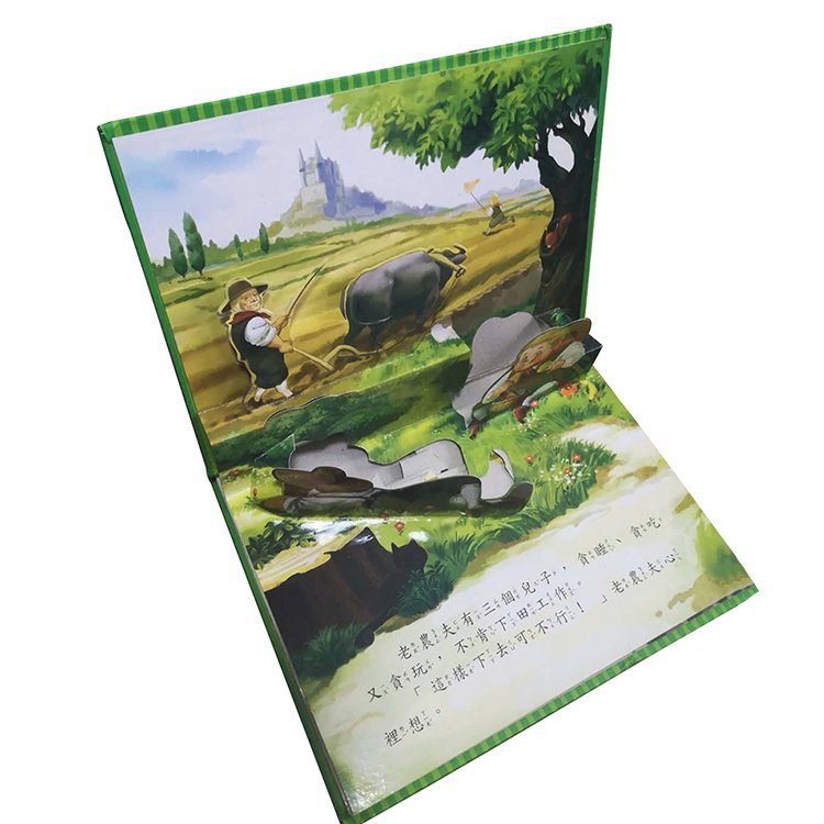 English pop-up story book, pop up books for children pop up book