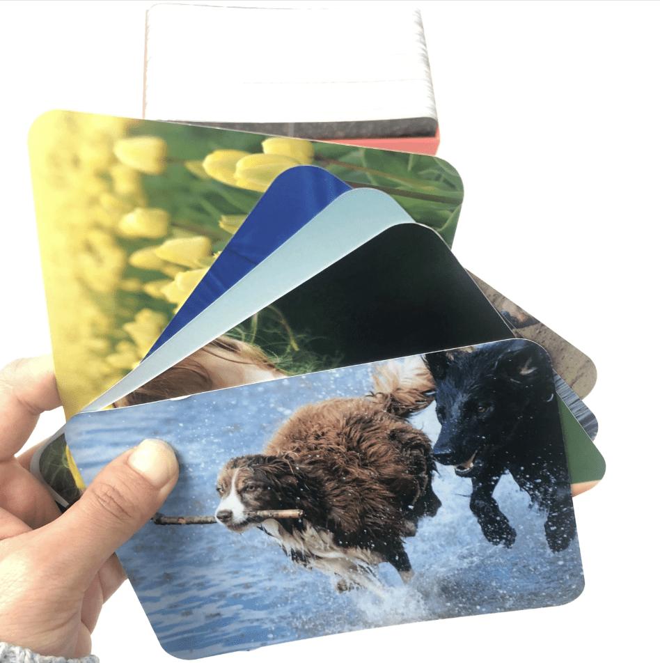 Custom card game box set, photo printing blank flash cards, sight words flash cards