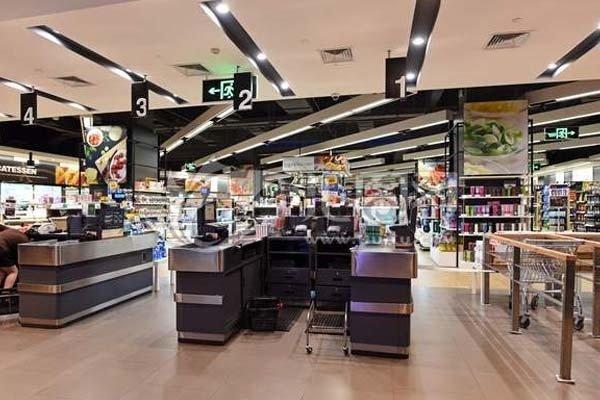 超市收银台