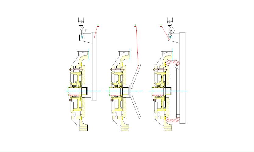 ZGB渣浆泵泵头组装