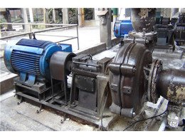 Fiter press feed pump working station