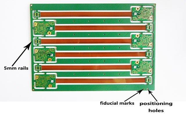 通孔填充有阻焊剂的7层软硬结合板