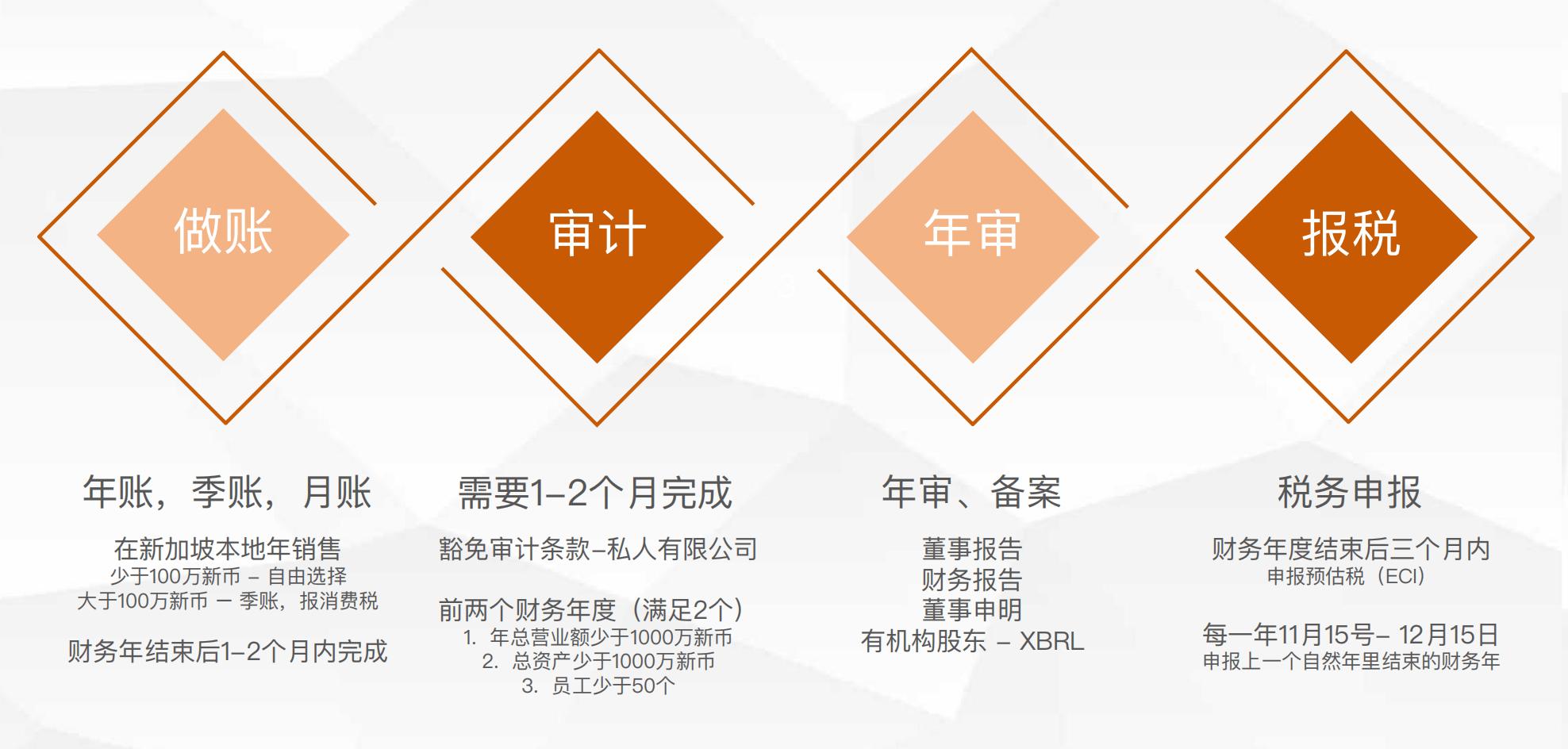 新加坡公司的财务税务流程