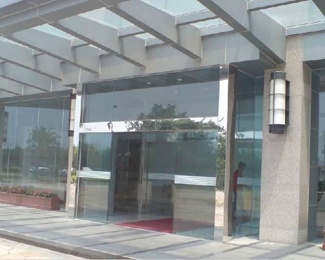 酒店玻璃门图片,酒店自动门案例