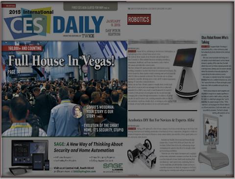 OTUS智能机器人CES2015 展会外媒邀约报道