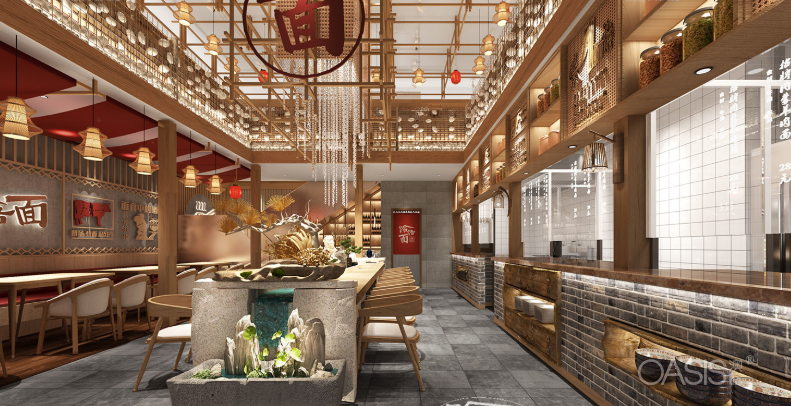 金刚饸饹面餐饮家具设计案例