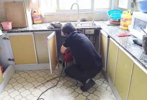 教室住宿楼厨房下水道疏通案例