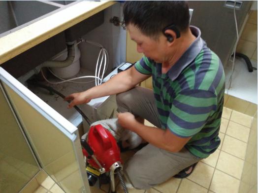 香江国际疏通厨房下水道案例