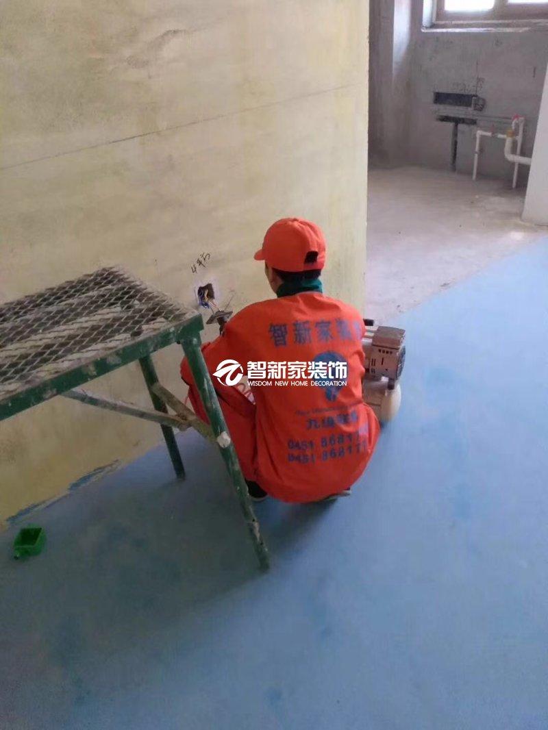 哈尔滨装修施工-电工工艺展示