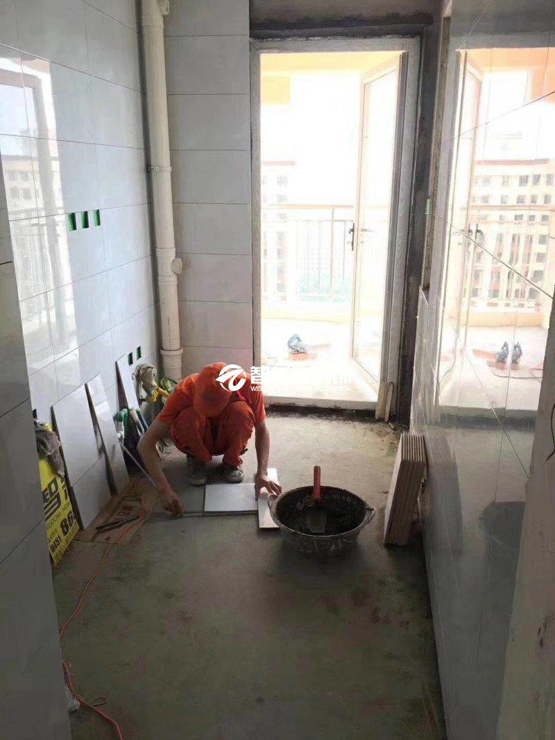 哈尔滨装修施工-瓷砖铺贴现场展示(一)