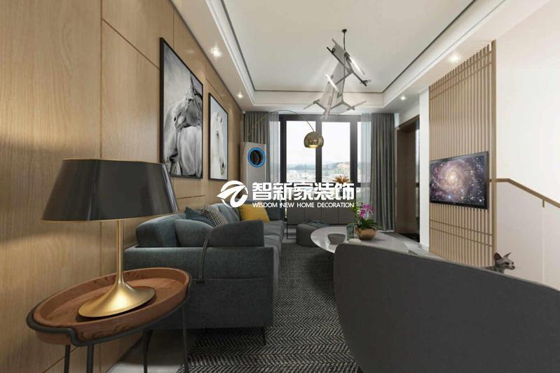 哈尔滨天鹅湾 现代风格 别墅装修效果图