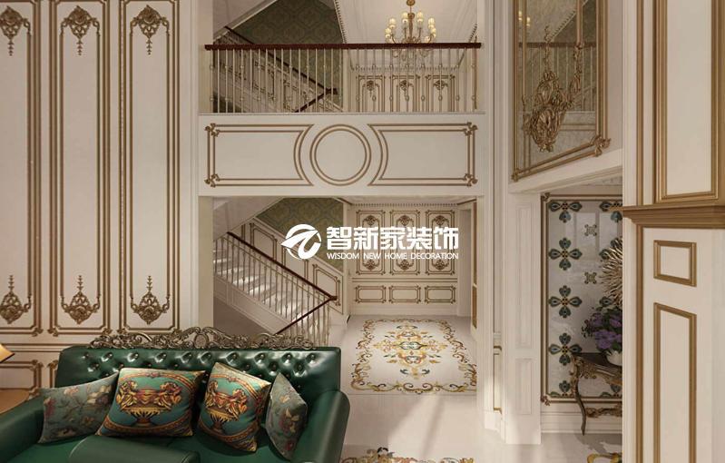 哈尔滨骏赫城 380米 美式风格别墅装修效果图