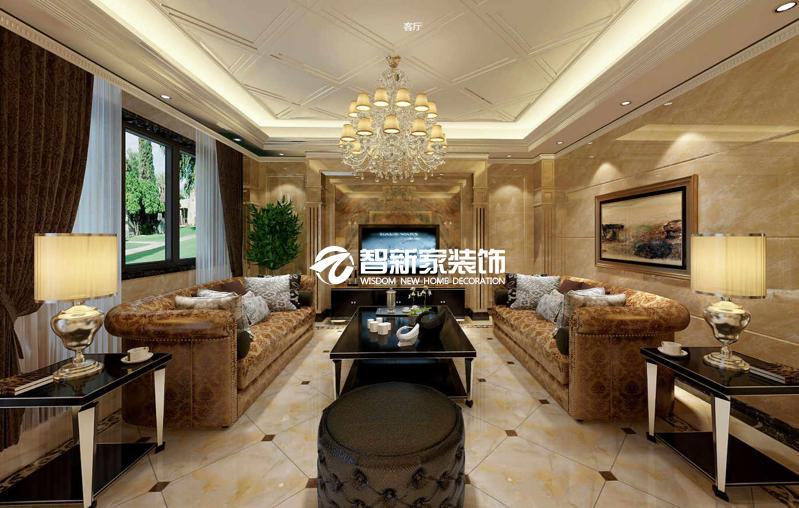 哈尔滨盛世闲庭 400米 欧式风格别墅装修效果图