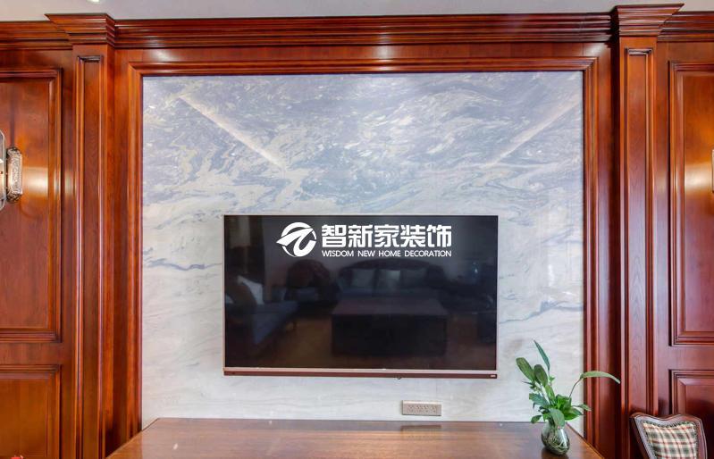哈尔滨香醍雅诺 120平米 美式风格装修案例效果图