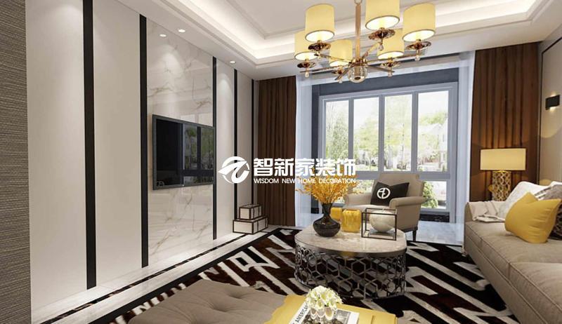 哈尔滨 恒祥城 120平米 现代简约风格效果图