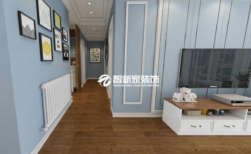 哈尔滨 60平米 小户型 简约清新风格效果图