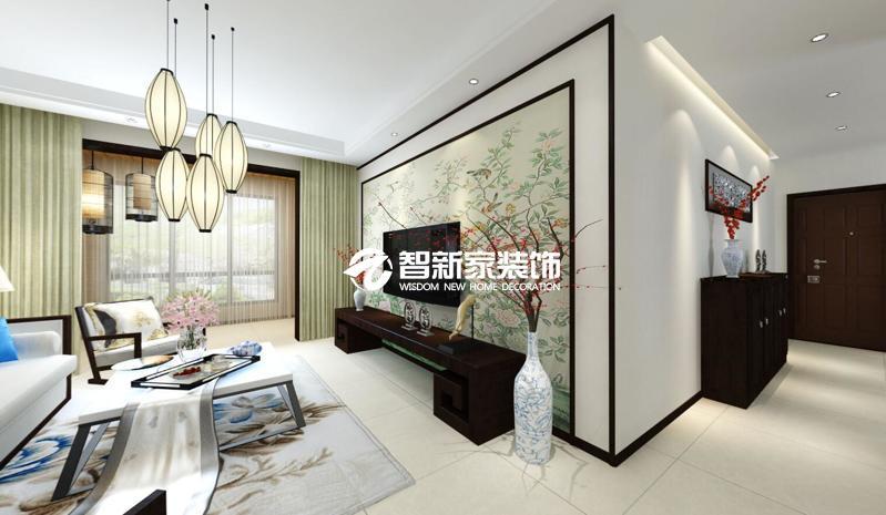 哈尔滨 锦绣华城 80米 中式风格装修效果图