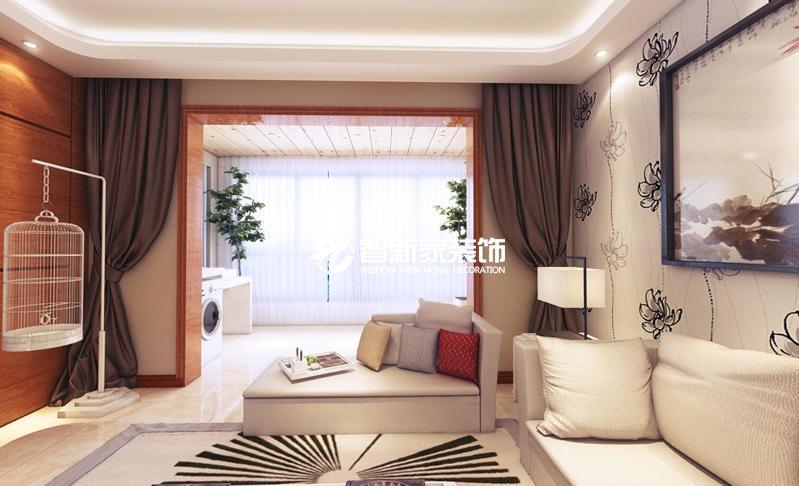 哈尔滨 辰能溪树庭院 155米 现代中式风格装修案例