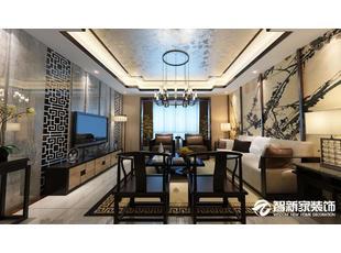 哈尔滨 140平米 简约中式风格 装修效果图