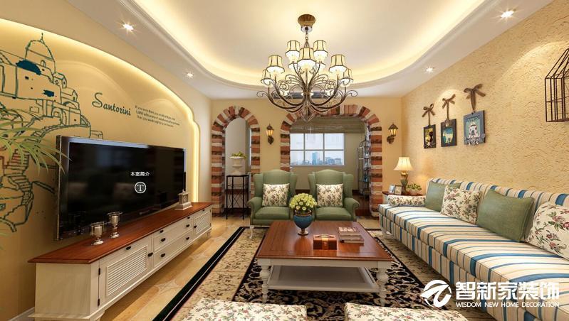 哈尔滨哈西万达华宅 125米 地中海风格装修案例